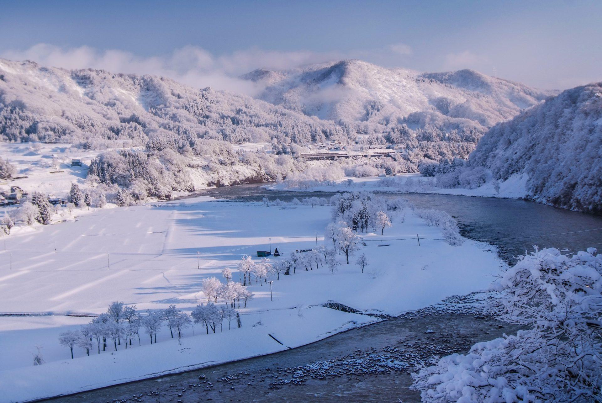 この地にとって雪こそが、最大の資源。名水も生まれ、そして美味しい農作物が育つ。